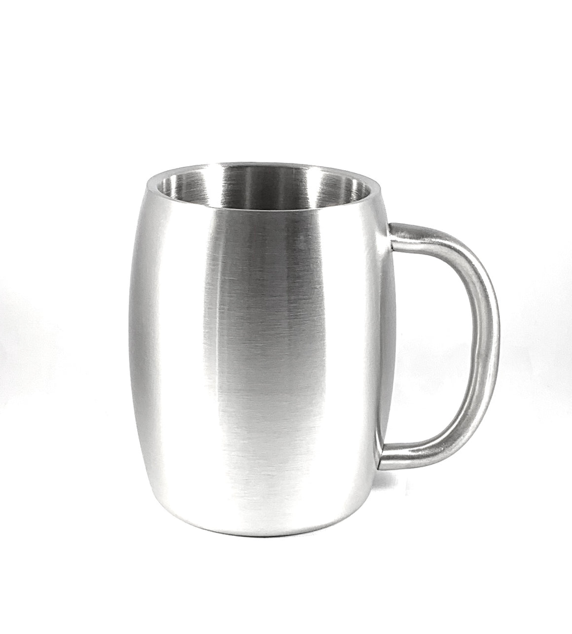 Steely Stainless Steel - 14 oz Barrel Mug