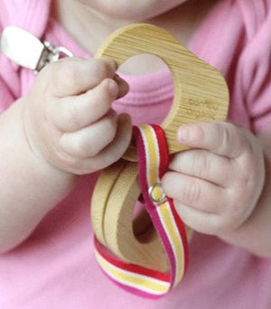 Bamboo Baby Teething Tools w/Leash