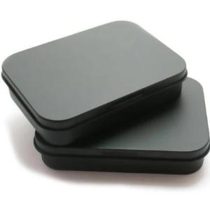 Black Hinged Tin