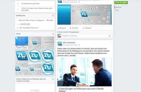 Facebook 2becommerce