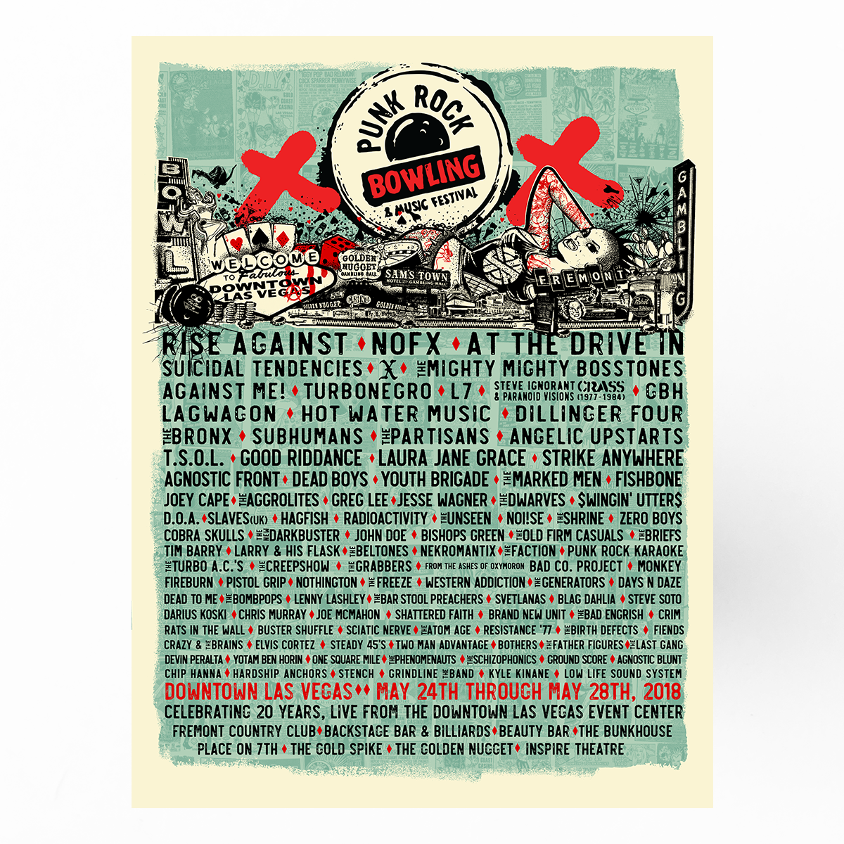 "PRB 2018 Festival Lineup Poster | 18""x24"""