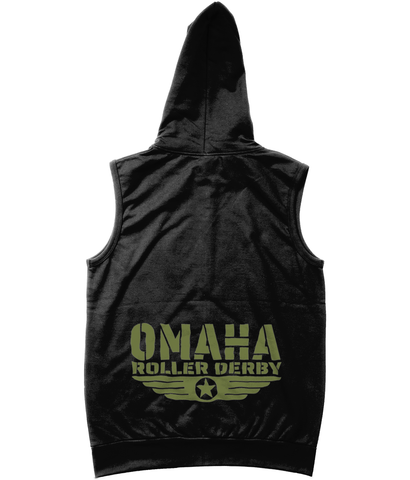 Omaha Roller Derby Sleeveless Zoodie