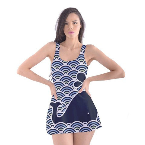Design Your Own! Full Custom Printed Skater Dress Swimsuit