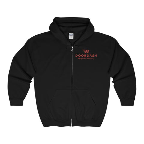 Doordash Full Zip Hooded Sweatshirt