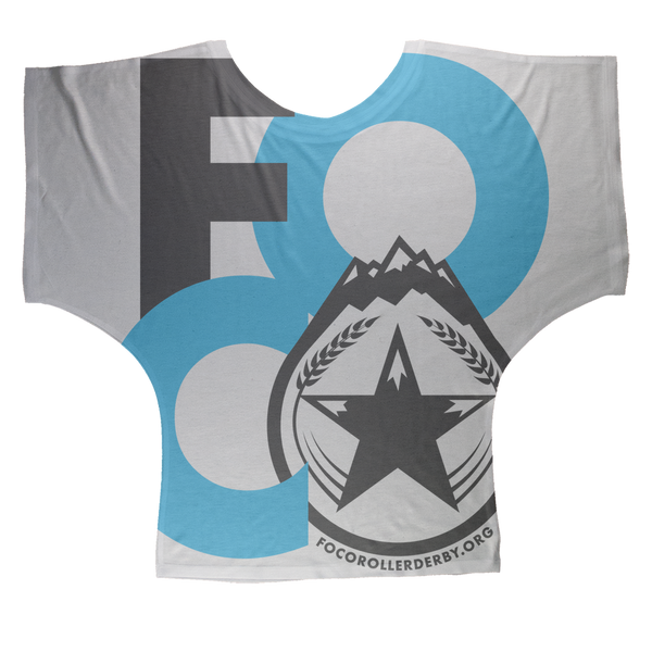 FOCO Roller Derby Sublimation Batwing Top