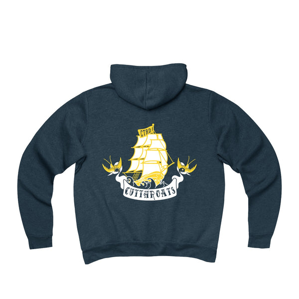 Connecticut Cutthroats Unisex Sponge Fleece Full-Zip Hoodie