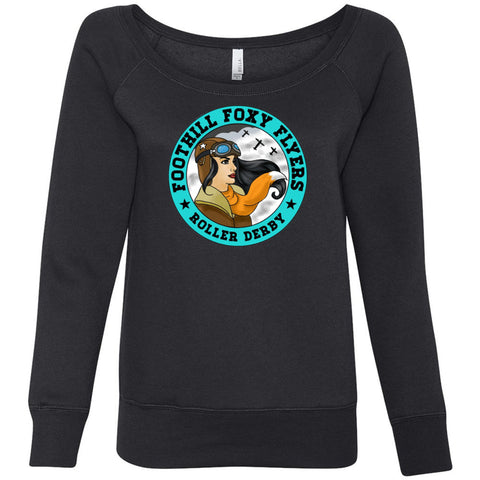 Foothill Foxy Flyers Women's Sponge Fleece Wideneck Sweatshirt