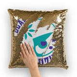 Black Eyed Suzies Free State Roller Derby Sequin Cushion Cover