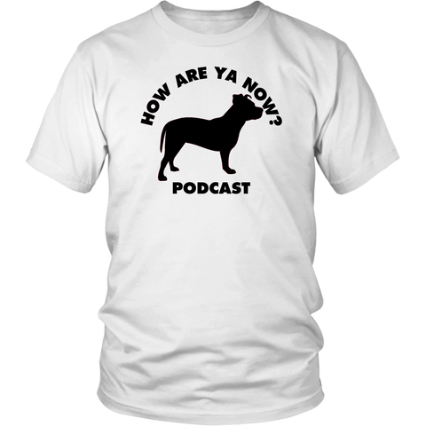 How Are Ya Now Podcast Three Legged Dog Unisex Tee