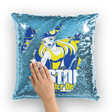 Keystone Roller Derby Sequin Cushion Cover