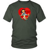 Vintage Valentines Come Over Flirty Girl Unisex Tee