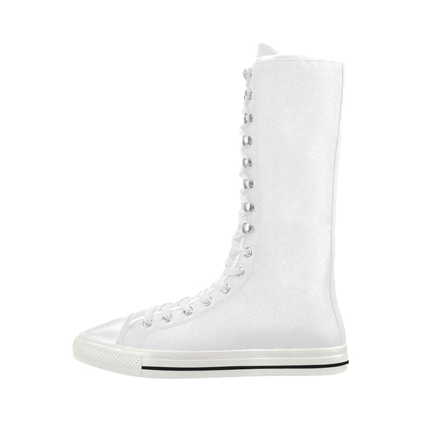 High Top Converse Style Canvas Long Boots For Women Model 7013H