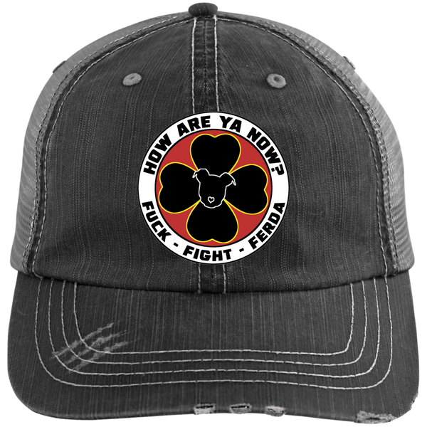 How Are Ya Now Podcast Fuck Fight Ferda Distressed Unstructured Trucker Cap