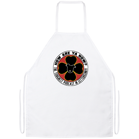 How Are Ya Now Podcast Logo Apron