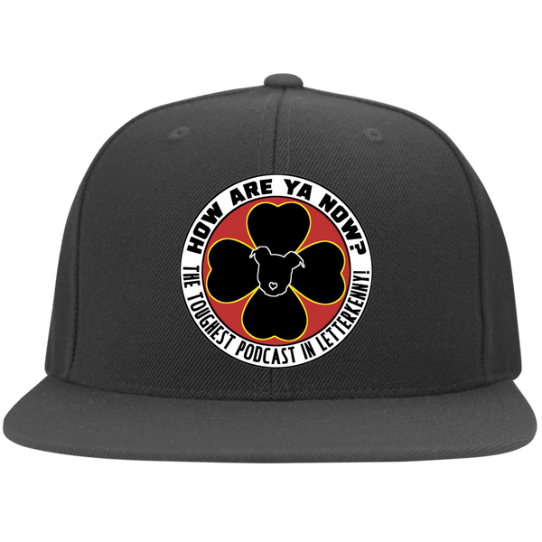 How Are Ya Now Podcast Logo Flat Bill Twill Flexfit Cap
