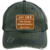 Gorge Exit Sign Distressed Unstructured Trucker Cap