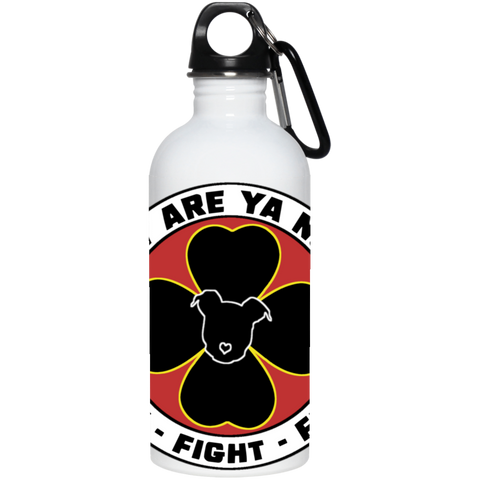 How Are Ya Now Podcast Fuck Fight Ferda 20 oz. Stainless Steel Water Bottle