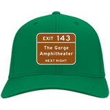 Gorge Exit Sign Port & Co. Twill Cap