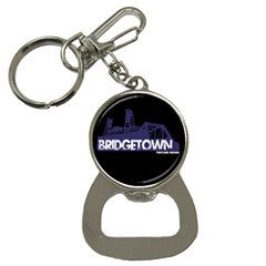 Custom Round Bottle Opener Keychain