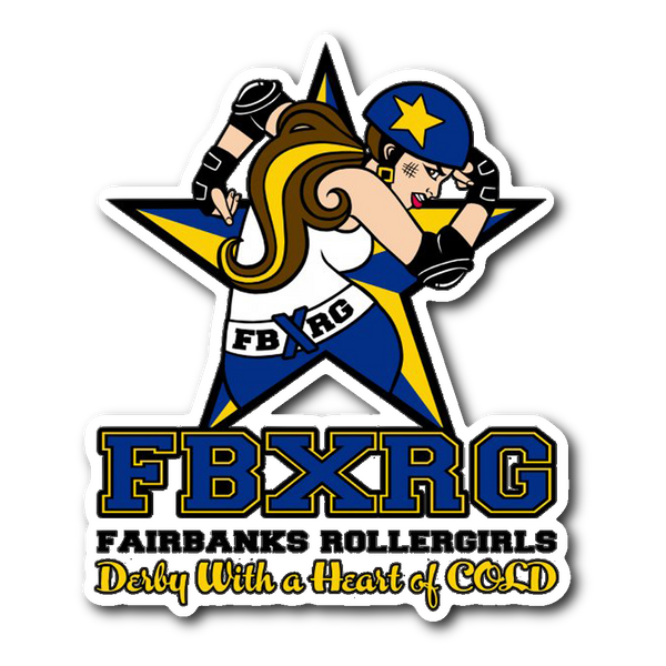 Fairbanks Rollergirls FBXRG Sticker