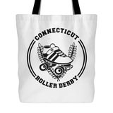 Connecticut Roller Derby Tote Bag