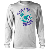 Black Eyed Suzies Free State Roller Derby Long Sleeve Tee