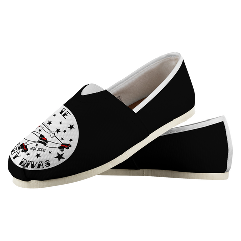IE Derby Divas Slide on Canvas Shoe