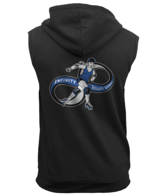Infinity Roller Derby AWDis Sleeveless Zoodie