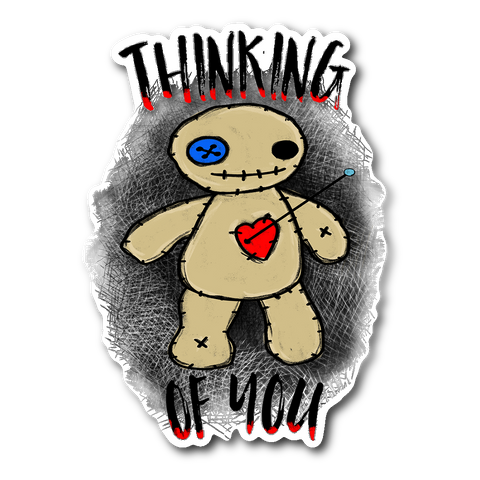 Thinking of You Voodoo Sticker