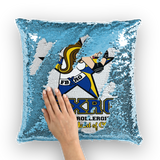 Fairbanks Rollergirls FBXRG Sequin Cushion Cover