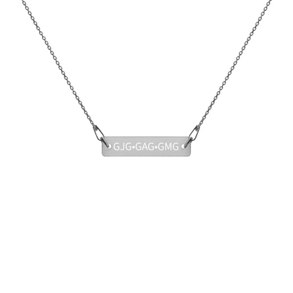 Kristin Engraved Silver Bar Chain Necklace