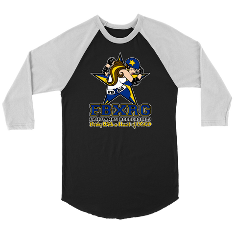 Fairbanks Rollergirls FBXRG Raglan Tee