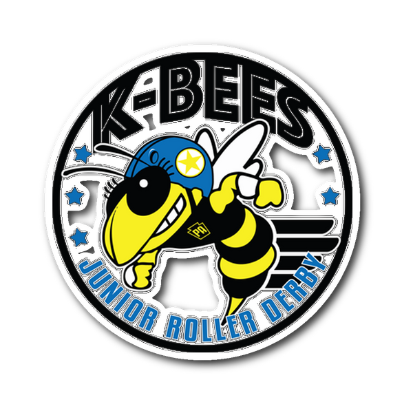 K-Bees Jr Roller Derby Sticker