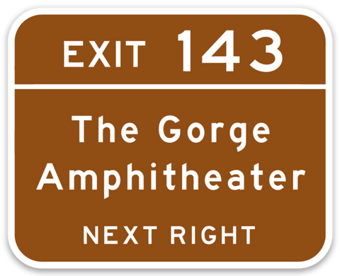 Gorge Exit Sign Sticker