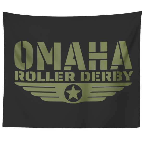 Omaha Roller Derby Tapestry (2 sizes!)