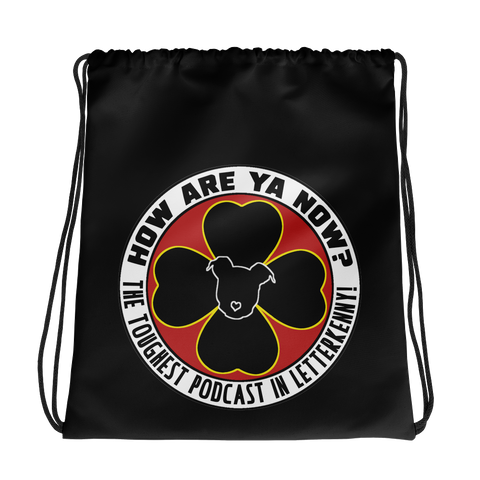 How Are Ya Now Podcast Logo Drawstring bag