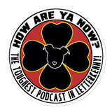 How Are Ya Now Podcast Logo Bubble-free stickers
