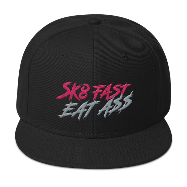 Derby Hell Sk8 Fast Eat Ass Snapback Hat