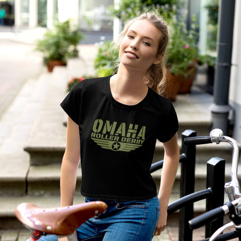 Omaha Roller Derby All-Over Print Crop Tee