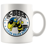 K-Bees Jr Roller Derby White Mug