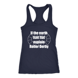 Flat Earth Roller Derby Tank