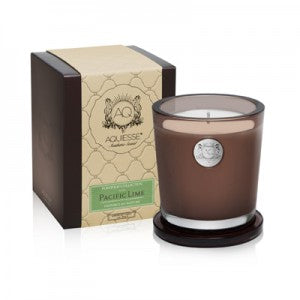 Aquiesse Pacific Lime Large candle. 100 Hours of 100% Natural Wax.