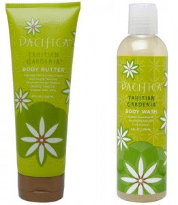 Pacifica Tahitian Gardenia Body Butter and Body Wash. 100% Vegan with no parabens.