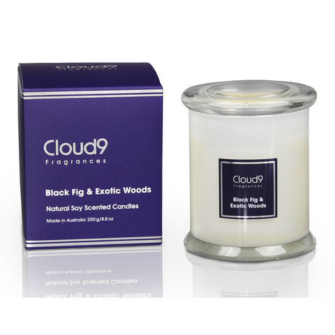 Black Fig & Exotic Woods Scented Candle