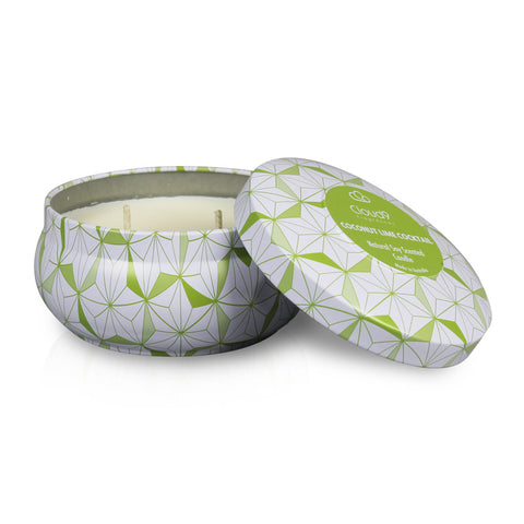 Coconut Lime Cocktail Scented Candle Tin