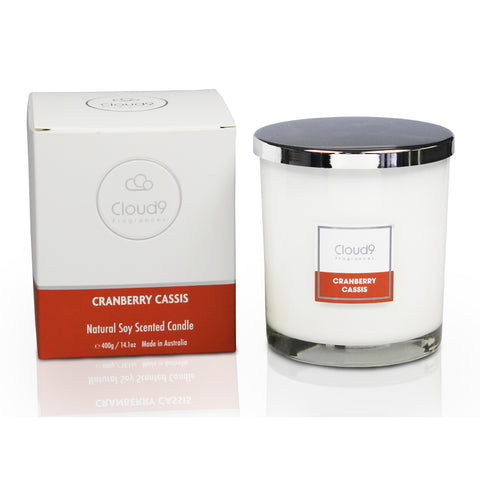 Cranberry Cassis Scented Candle