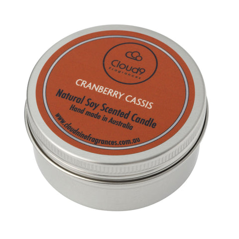 Cranberry Cassis Scented Candle Travel Tin