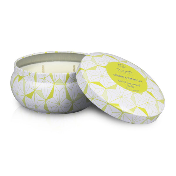 Green Tea & Ginger Scented Candle Tin