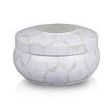 White Flowers Scented Candle Tin