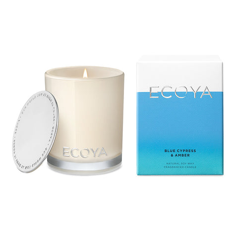 Blue Cypress & Amber Scented Candle Mini